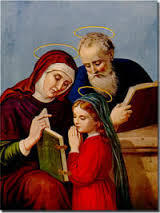 Saints Anne & Joachim, parents of The Blessed Virgin Mary, patron of married couples
